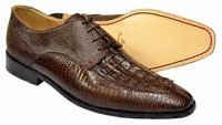 David Eden Mens Brown Crocodile Lizard Shoes Juarez