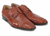 David Eden Mens Cognac Crocodile Shoes Tulum