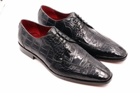 David Eden Mens Gray Alligator Shoes Split Toe Capelli