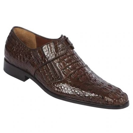 Lombardy Mens Brown Crocodile Shoes Oxford ZLM02027