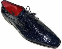 David Eden Mens Navy Blue Alligator Shoes Lace Up Fitipaldi