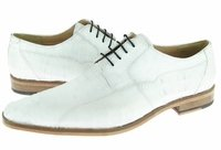 David Eden Mens White Crocodile Shoes Tulum