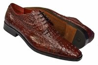 David Eden Mens Wine Crocodile Shoes Tulum