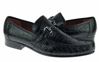 David Eden Shoes Black Alligator Gucci Style Loafer Bianchi