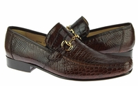 David Eden Shoes Brown Alligator Gucci Style Loafer Bianchi
