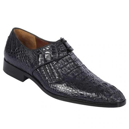 Lombardy Mens Blue Crocodile Shoes Oxford ZLM020210