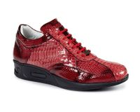 Mauri Italy Mens Red Python Patent Sneakers