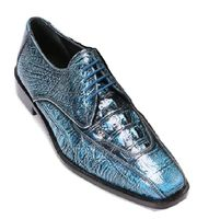 Liberty Blue Tone Gator Print Leather Dress Shoes 938