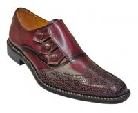 Liberty Burgundy Leather Dress Shoes Mens Snap Wingtip 907