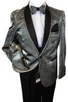 Men's Shiny Silver Dinner Jacket Blu Martini Park 5876 IS