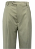 Domani Slacks Mens Solid Khaki Pleated Wool Blend Dress Pants 55