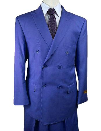 Purple Double Breasted Wool Suit Alberto Nardoni DB-1