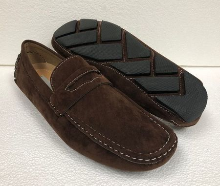 Driving Shoes Men Brown Suede Penny Loafer AC 6516 Final Sale