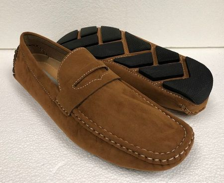 Driving Shoes Men Scotch Beige Suede Penny Loafer AC 6516 Final Sale