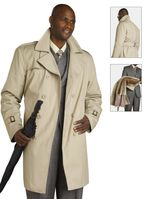 EJ Samuel Mens Beige Belted Trench Coat C006