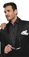 EJ Samuel Mens Black Diamond Entertainer Blazer J14 Size XLarge  Final Sale