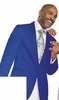 EJ Samuel Mens Royal Blue Diamond Entertainer Blazer J14