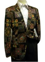 Pronti Mens Blazers Black Medieval Pattern B6195 Size 40R Final Sale