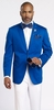 EJ Samuel Mens Royal Blue Side Vent Blazer Regular Fit Jacket J22