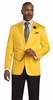 EJ Samuel Mens Yellow Color Classy Classic Fit  Suit Jacket Blazer J22