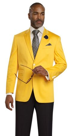 EJ Samuel Mens Yellow Color Classy Classic Fit  Suit Jacket Blazer J22 - click to enlarge