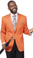 EJ Samuel Solid Orange Blazer J22 Size XL Final Sale