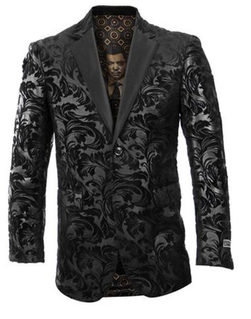 Empire Blazer Men's Black Paisley Fashion Jacket ME229-01