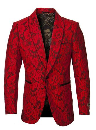 Empire Blazer Men's Red Floral Fashion Jacket ME277H