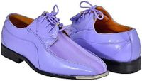 Expression Light Purple Satin Stripe Metal Tip Dress Shoes 4925 IS
