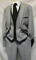 Falcone 4 Piece Houndstooth Sarge Vested Suit 7440-000 Final Sale