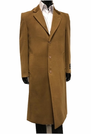 Falcone Men's Chesterfield Topcoat Light Brown Vance 4150-068 - click to enlarge
