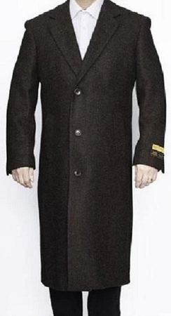 Mens Winter Topcoat Black Wool Full Length Alberto Coat03 - click to enlarge