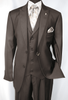 Falcone Mens Brown Pett Vested Vintage Style Suit 5306-208