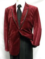 Blu Martini Burgundy Black Trim Velvet Blazers Four Seasons 5060