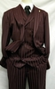 Falcone Burgundy Shiny Stripe Mat Vest Fashion Suits 380-175