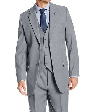 Stacy Adams Mens Suny Vested Gray 3 Piece Suit 4016-101