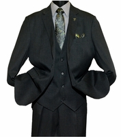 Stacy Adams Heather Dark Gray 1920s Inspired Suny Vest Three Piece Suits 4016-011 OS