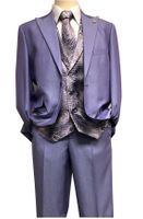 Falcone Purple Paisley Vest Tie Fashion Suit City 5284-349