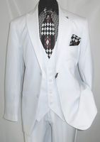 Falcone Vett Vested White 3 Pc. Suit 3869-007 OS