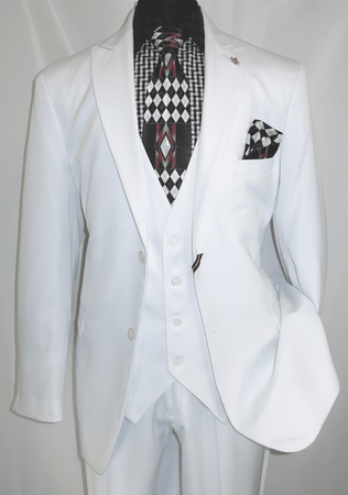 Falcone Vett Vested White 3 Pc. Suit 3869-007 OS - click to enlarge