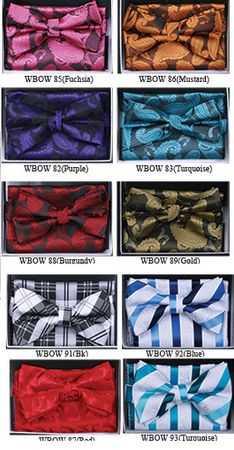 Fancy Matching Bow Tie Sets WBOW-7