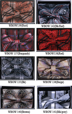 Fancy Pattern Bow Tie Sets WBOW-13