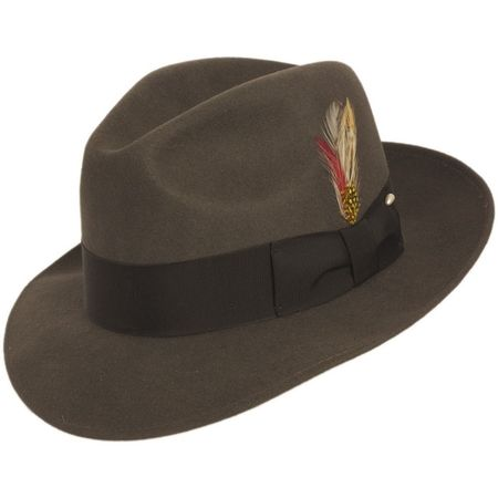 3be25062a23 Fedora Hat Men s Steel Gray Wool Brim Untouchable Capas