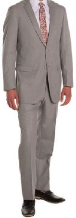 Ferrecci Men's Suits 2 Piece  Light Grey Flat Front Pants Regular Fit Ford - click to enlarge