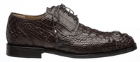 Mens Alligator Shoes by Ferrini Brown Hornback Square Toe 228