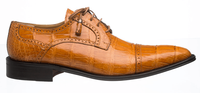 Alligator Shoes Ferrini Mens Cognac Cap Toe 216