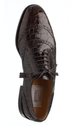Mens Italian Alligator Shoes by Ferrini Brown Wingtip 3673