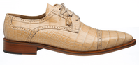 Alligator Shoes Ferrini Mens Tan Cap Toe Style 216