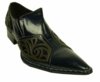 Fiesso Navy Leather Fancy Pointy Toe Shoes 6740 IS