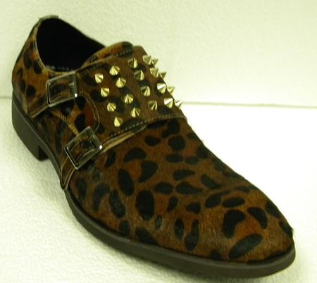 Fiesso Shoes Leopard Print Rivets 3142 IS